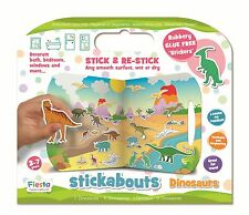 Dinosaurs Stickabouts Play Set - 31 Stick Anywhere Stickers + Play Board by Fies