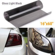 """Gloss Black Light Tint Headlight Taillight Fog Light Vinyl Sticker 16"""" x 60"""" SY"""