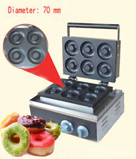 Electric six pieces Donut Maker Machine110V ,commercial donut making machine Us