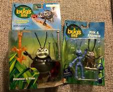 Lot Of 2 Disney A Bug's Life Flik & Francis With Poseable Flik /Francis &slim