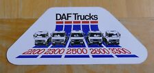 DAF Trucks 2100 / 2300 / 2500 / 2800 / 3300 Lorry Sticker / Decal