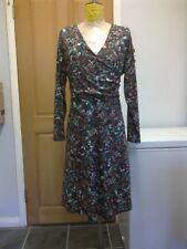 JOE BROWNS Olive Brown Floral Jersey Fit & Flare Skater  Dress -  size 16 UK