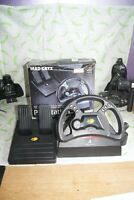 Official Sony Playstation PS1 Mad Catz Steering Wheel controller - SLEH-0005