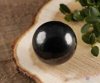 SHUNGITE Crystal Sphere - Housewarming Gift, Crystal Ball, Home Decor E0278