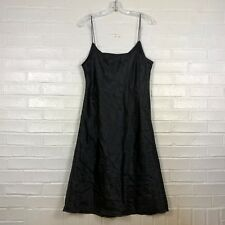 Adrianna Papell Dress Size 18W Black Spaghetti Strap Sleeveless Below Knee