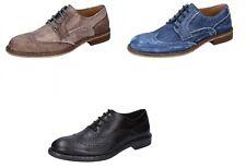 +2 MADE IN ITALY scarpe uomo classiche marrone e beige blu in pelle 00aa4067fa0