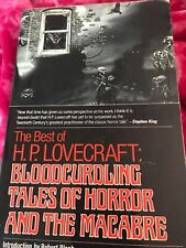THE BEST OF H. P. LOVECRAFT (1982) Intro Robert Bloch 1st Edition M Whelan cover
