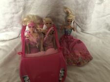 Barbie Dolls With Car And Accessories