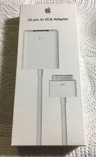 Brand New Apple 30-Pin to VGA Adapter iPad 2/iPhone 4/iPod Touch OEM MC552ZM/B