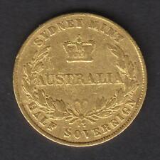 Australia.  1857 Sydney Mint - Half Sovereign..  Fine - Trace Lustre