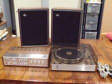 Tourne Disque Philips 202 Ampli RH591 hauts parleurs 22RH496