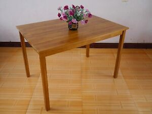AoKe Solid Oak Classic Fixed Dining Table Furniture Dining Table 110 x 75 x 75cm