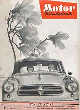 Motor Rundschau 8 59 1959 Meili BMW 600 TG 500 Goggo Alexander Frua Maico M 175