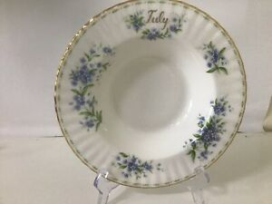 """Large Royal Albert Flower Of The Month Bowl """" JULY"""" """" FORGET ME NOTS"""""""