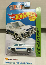 '70 Ford Escort RS1600 #221 * White * Hot Wheels 2015 USA Card * W43