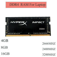 4 Go 8 Go 16 Go 2400 MHz 2666 MHz 3200 MHz DDR4-SO-DIMM-RAM pour Kingston HyperX