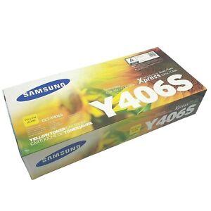 Genuine Samsung Y406S CLT-Y406S Yellow Printer Toner Cartridge CLP CLX Xpress