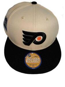 Philadelphia Flyers Mens OSFA Reebok Winter Classic Flatbrim Flex Fit Hat $24