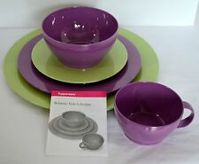 5 pc Set Tupperware Melamine Gestures Purple Green Salad Dinner Plates Bowl Cup & Tupperware Melamine Dinnerware \u0026 Serving Dishes | eBay