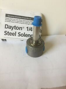 "Solenoid Valve  Dayton 2A196, 1/4"", Normally Closed"