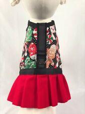 Holiday Christmas Dog Harness Vest Dress With Ruffle Skirt
