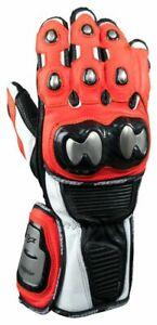 AGVSPORT Echelon Leather and Titanium Race Gloves