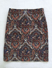 J CREW Womens Paisley Print Pencil Skirt Career Suiting Sz 0 $128 SOLD OUT RARE