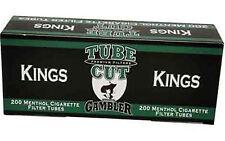 Gambler Tube Cut Menthol King Filter Cigarette Tubes -Lot Of 5 Boxes1,000 Tubes