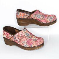 Sanita Women's Danish Clogs Mules Multicolor Colorful Floral Size 38 8 | AA