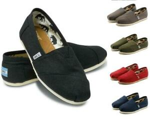 Women Men's TOM S Shoes Slip-on Casual Flats Solid Canvas Leisure Loafer Shoes