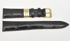 Cinturino, black Louisiane alligator strap 20mm (16mm buckle) new unused