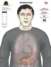 Self Defense Anatomy Paper Shooting Target Pad of 25 Single Targets