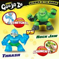 Heroes of Goo Jit Zu 2 Pack of Glow in The Dark Action Figures Thrash vs Rockjaw