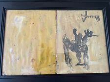 Purvis Young Original Picasso/Basquiat Type Outsider Don Quiote Painting Signed