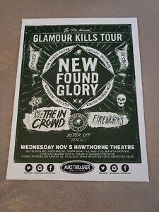 "NEW FOUND GLORY 2014 ""GLAMOUR KILLS TOUR"" PORTLAND CONCERT POSTER 11""x14.5"""