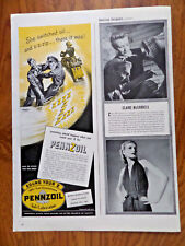 1944 Pennzoil Oil Ad  Motorcycle