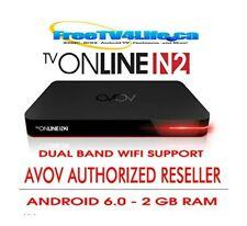 2021 AVOV TVONLINE N2 Android 4K IPTV Set Top BOX DUAL BAND WIFI