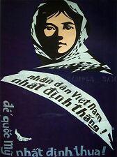 Propagande guerre du Vietnam l'impérialisme américain Grand Poster Art Print bb2775a
