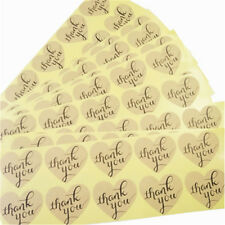 Stickers - Kraft Thank You  - Set of 50