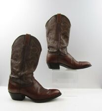 Men's Wrangler Brown Bull Hide Leather Cowboy Western Boots Size: 9.5 D