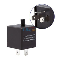 Turn Signal Flasher Blink Speed Adjustable Relay 3 Pin for Motorcycle LED Light
