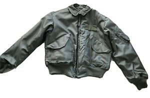 Isratex Flyer's Bomber Jacket CWU 45/P Mens Large 42-44 USAF Air Force Green NOS