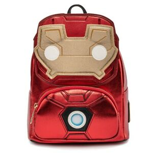 LOUNGEFLY POP! MARVEL IRON MAN COSPLAY LIGHT UP MINI BACKPACK NWT IN HAND