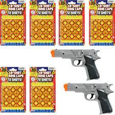 Super Bang Ring Caps 6 Packs + 2 Cap Gun Toys Colt 45 - 8 Shots Fires 432 shots