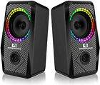Wired RGB Computer Speakers, 3.5mm Cable, Channel Stereo Speaker, Volume Control