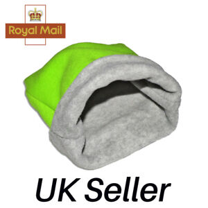 XL, L, S, Soft Polar Fleece small animal bed snuggle pouch Guinea pig etc.