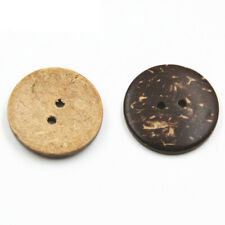 2 Holes 50/150PCS Round Green Wooden Coconut Buttons Coating Snaps