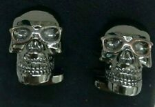 Paul Smith Silver Skull with Glasses Cufflinks