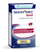 Novasource Renal Formula, Vanilla, 8 Ounce, Nestle 35110000 - Case of 27 NEW