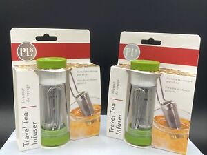 Lot Of 2 Mini Progressive Tea Infuser - Travel Size - Portable Light & Reusable